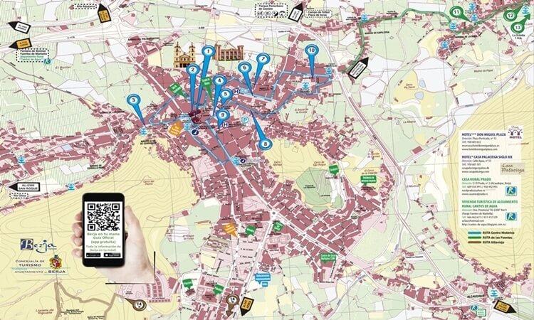 Plano turístico de Berja