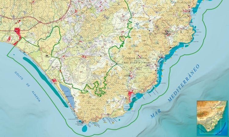 Mapa Cabo de Gata (Anverso)