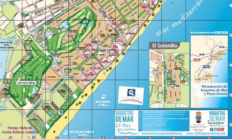 Plano Urbanizaciones (Roquetas de Mar)