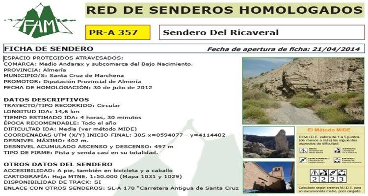 Sendero del Ricaveral (Santa Cruz)