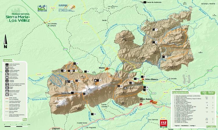 Mapa Sierra María – Los Vélez