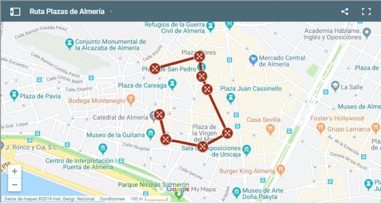 Ruta Plazas de Almería