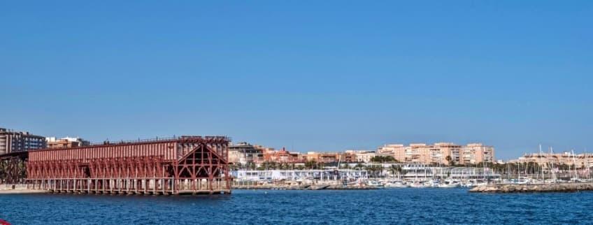 Panoramic of Almeria city