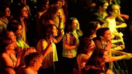 People at a music concert
